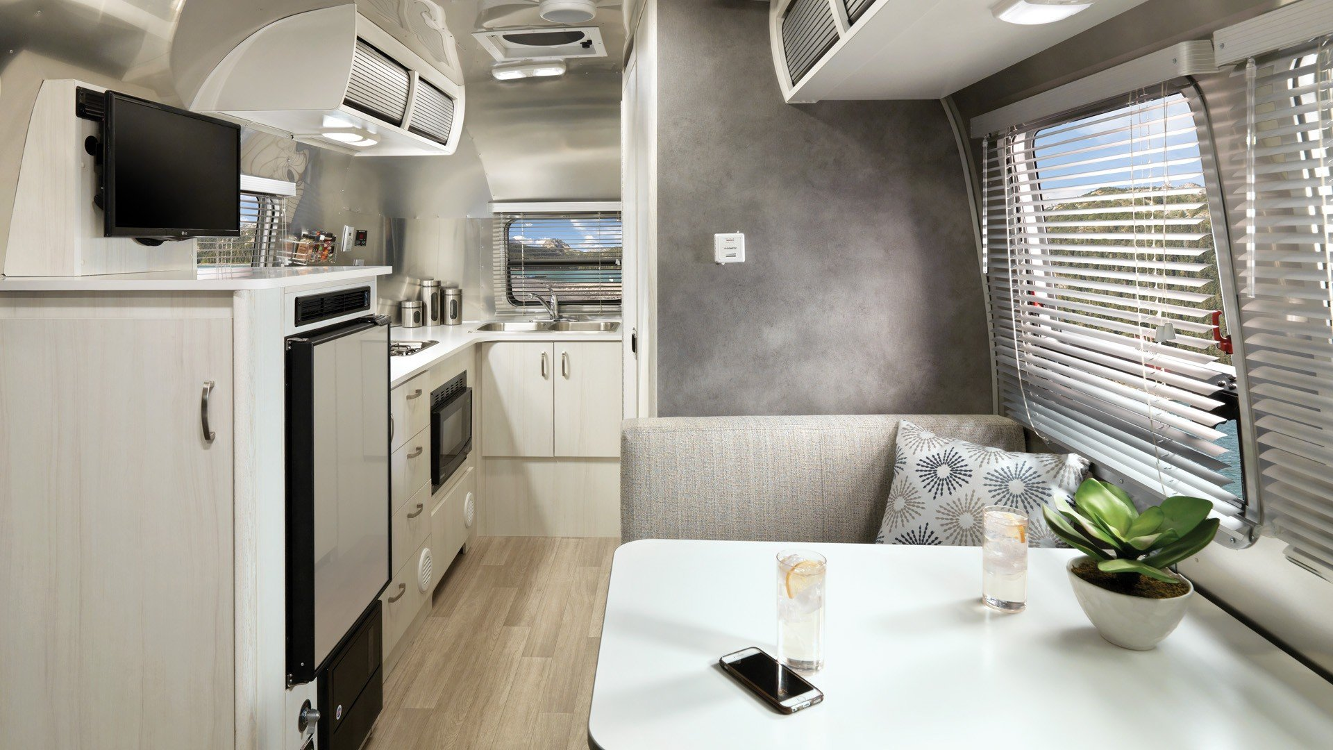 2020 Airstream Bambi Kitchen and Living