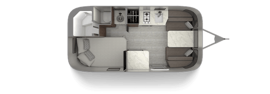 Airstream Caravel 19CB Floorplan