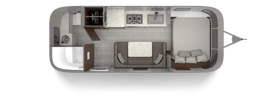 Airstream Caravel 22FB Floorplan